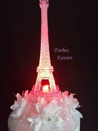 LED Eiffel Tower Light Up Cake Topper Wedding Cocktail