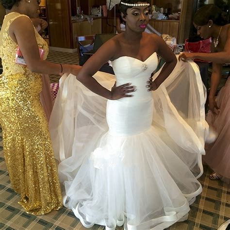 Simple Tulle Sweetheart Cheap Bridal Dresses African