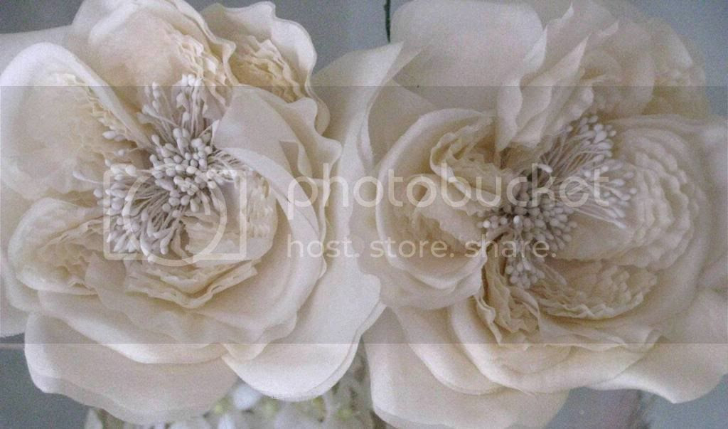 Fete et fleur dreaming white millinery silk roses the very height of elegance mightylinksfo