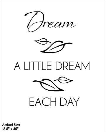 Wall Talk Quotes Dream A Little Dream Each Day Wish Kitchen And Gift