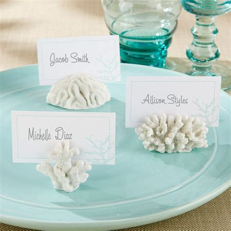 Coral Place Card/Photo Holder   Beach Wedding Favors by