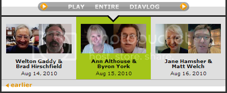 screen shot of an image link to an Ann Althouse/Byron York diavlog