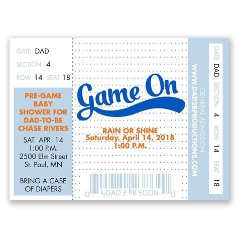 Game On Petite Baby Shower Invitation   Invitations By Dawn