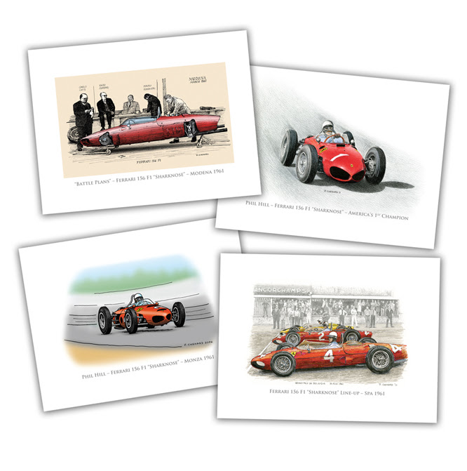 Phil Hill, Sharknose Ferrari Set, Paul Chenard