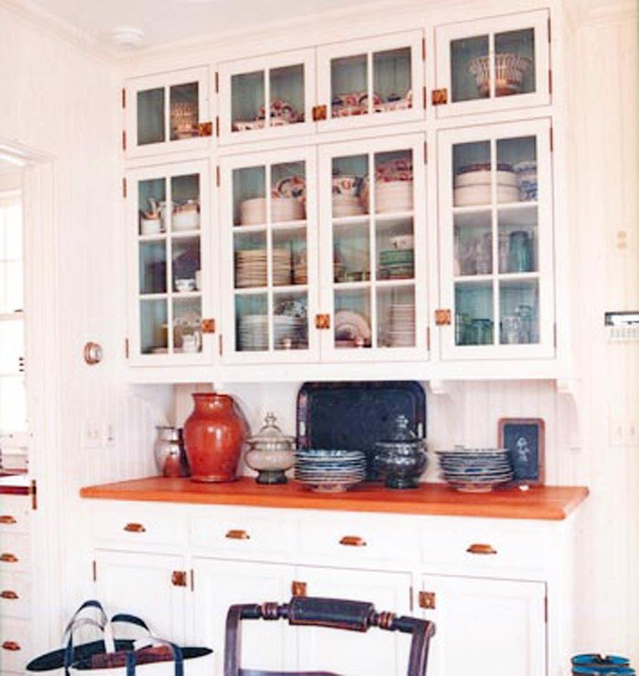 Bright Glass Front Kitchen Cabinet Doors | Spotlats