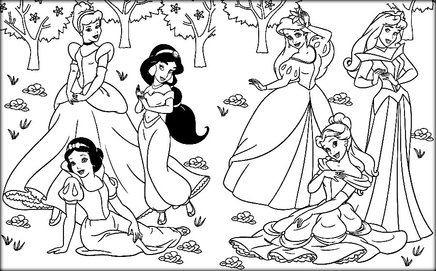 82 Top Printable Coloring Pages Disney Princesses Download Free Images
