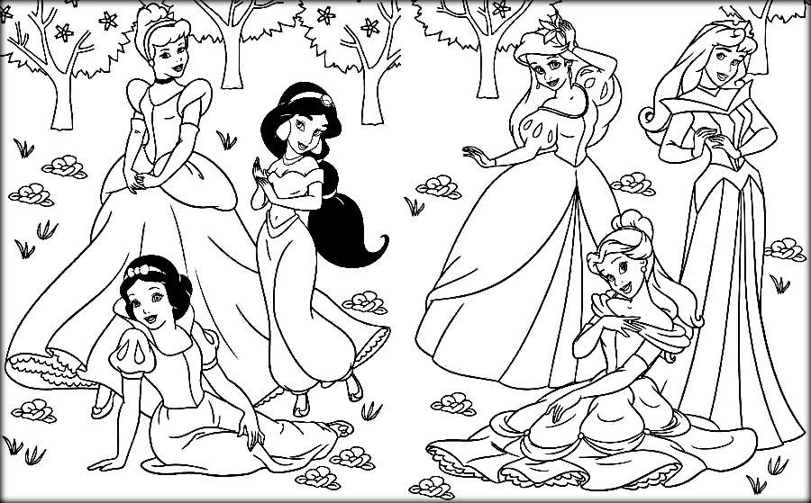 66+ Disney Princess Printable Coloring Book Picture HD