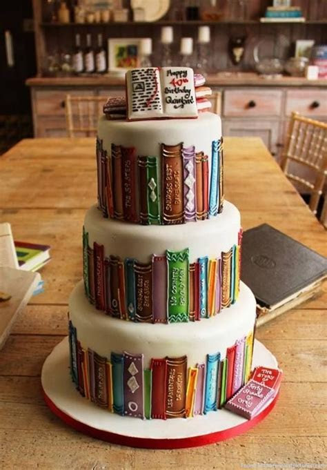 A perfect birthday cake for book lover.   Funniest Pictures
