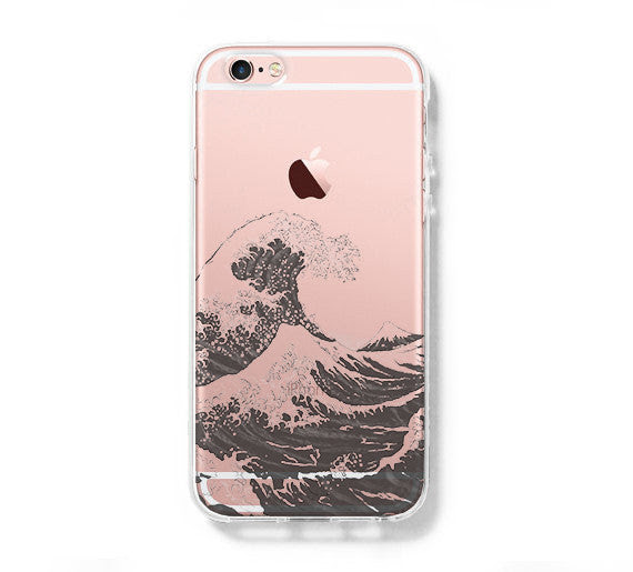 Japanese Ocean Wave Iphone 6s 6 Clear Case Iphone 6s Plus Cover