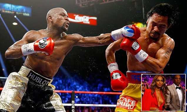 Floyd Mayweather wins fight of the century: Galaxy of stars look on as Manny Pacquiao