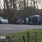 Prince Philip unhurt in crash while driving - BBC News