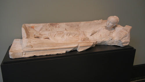 DSCN7486 _ Grave Monument of a Girl, Roman, A.D. 120-140, Getty Villa, July 2013