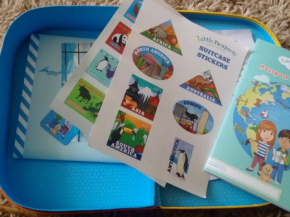 Contents of Little Passports Early Explorer Suitcase