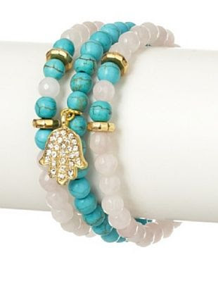 Devoted Jewelry Rose Quartz & Turquoise Stretch Bracelet Set