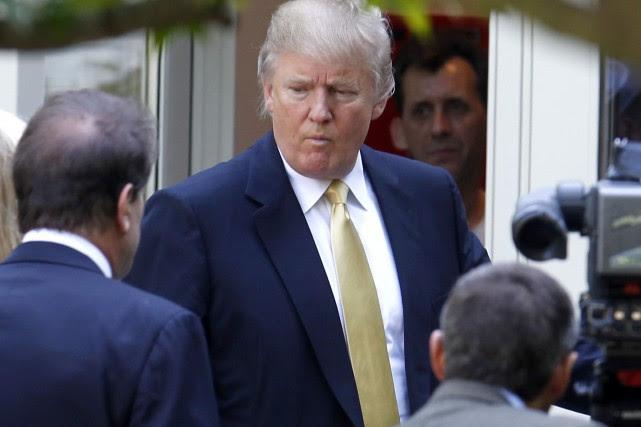 Les déplacements en voiture de Donald Trump sont... (Photo AP)