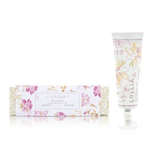 Lollia Breathe Peony & White Lily Shea Butter Hand Creme - 4.0 oz.