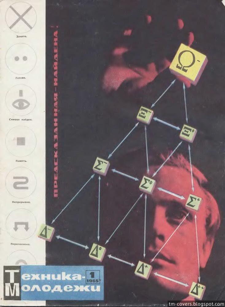 Техника — молодёжи, обложка, 1965 год №1
