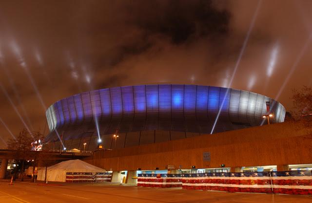 New giant HD end zone screens at MercedesBenz Superdome FOX