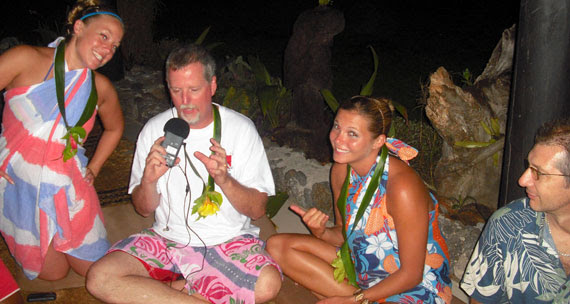 ScubaRadio recording in Fiji