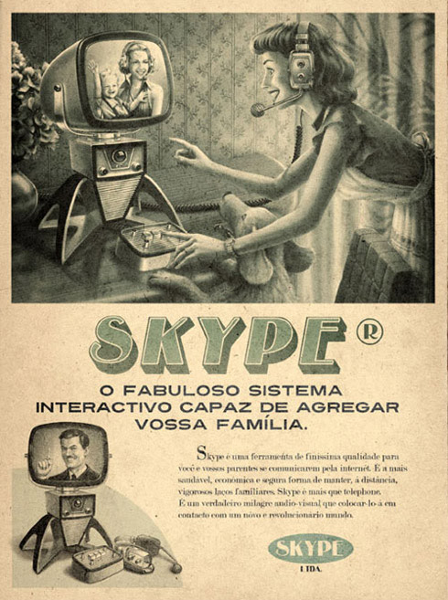 Propagandas Retrôs do Youtube, Skype, Twitter e Facebook