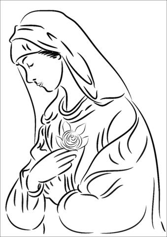 Dibujos Para Colorear Virgen Maria