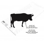 Cow with Horns Yard Art Woodworking Pattern - fee plans from WoodworkersWorkshop® Online Store - cows,silhouettes,farm animals,yard art,painting wood crafts,scrollsawing patterns,drawings,plywood,plywoodworking plans,woodworkers projects,workshop blueprints