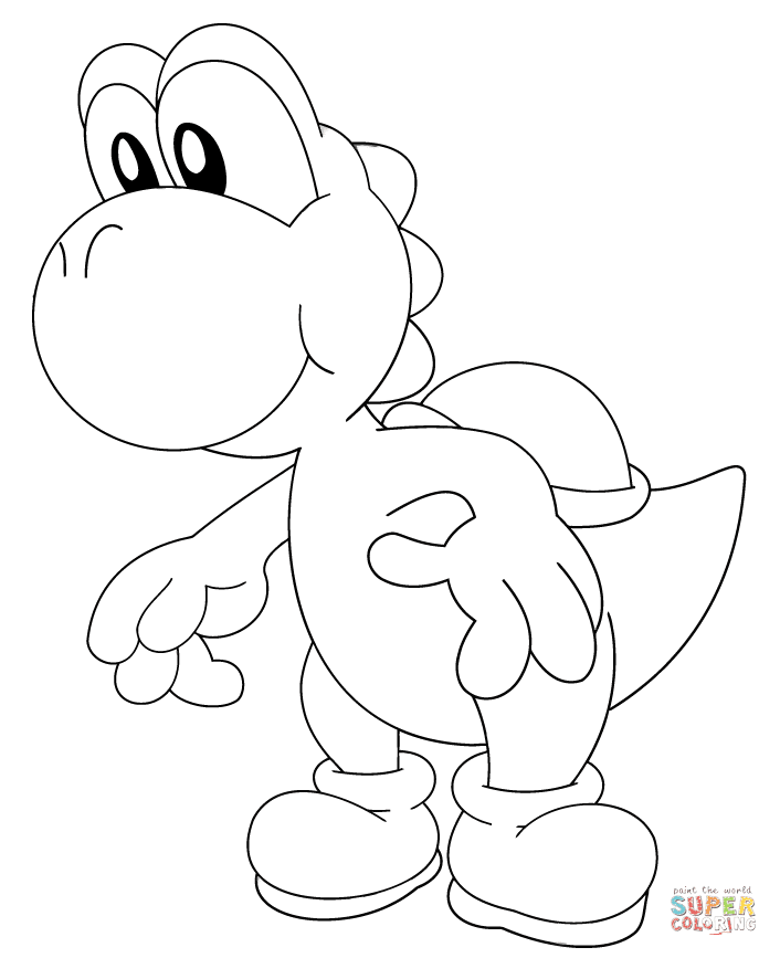 9200 Yoshi Coloring Pages Printable Free Pictures