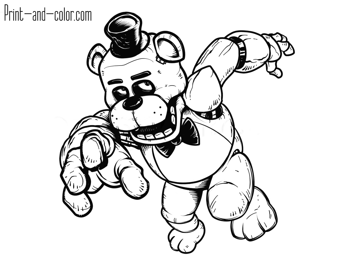 Five Nights At Freddys Coloring Pages Print And Colorcom