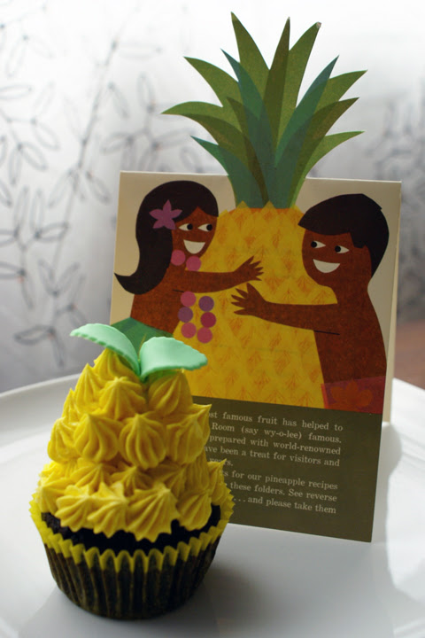 """pineapple"" cupcake!"