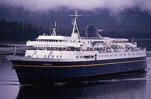 MV Matanuska heading south through Wrangell Na...