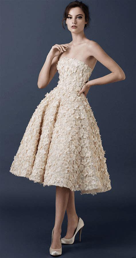 vestidos cortos de novia elegantes modernos  chic