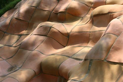 Pump House Garden sautillo tile slope