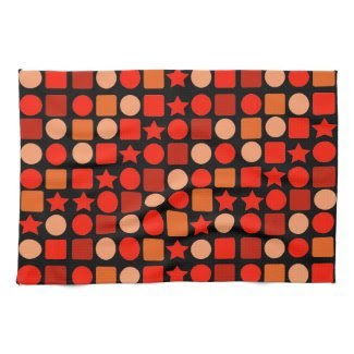 Orange-flavored Geometrics Hand/Kitchen Towel