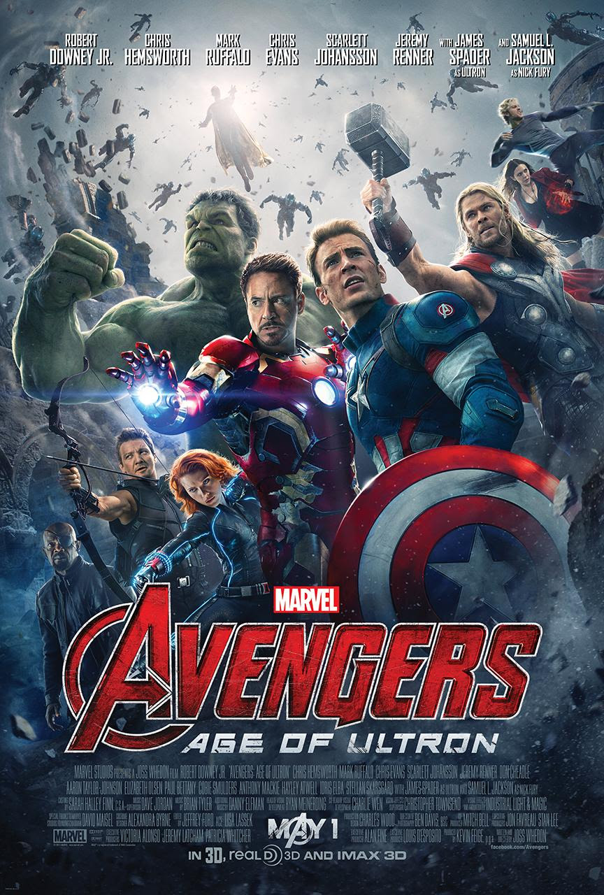 Avengers: Age of Ultron - Movie Poster - Top 10 Films of 2015