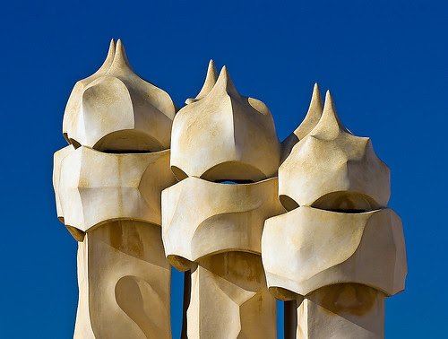Detail Milá House (La Pedrera), Barcelona, Spain, by jmhdezhdez