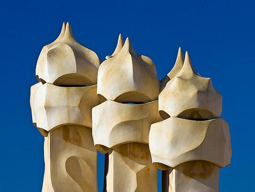 Detail Milá House (La Pedrera), Barcelona, Spain, by jmhdezhdez