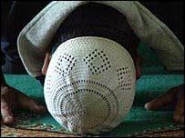 Musulmán rezando.