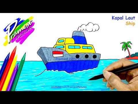 Kapal Laut Cara Menggambar Dan Mewarnai Gambar Perahu Untuk Anak