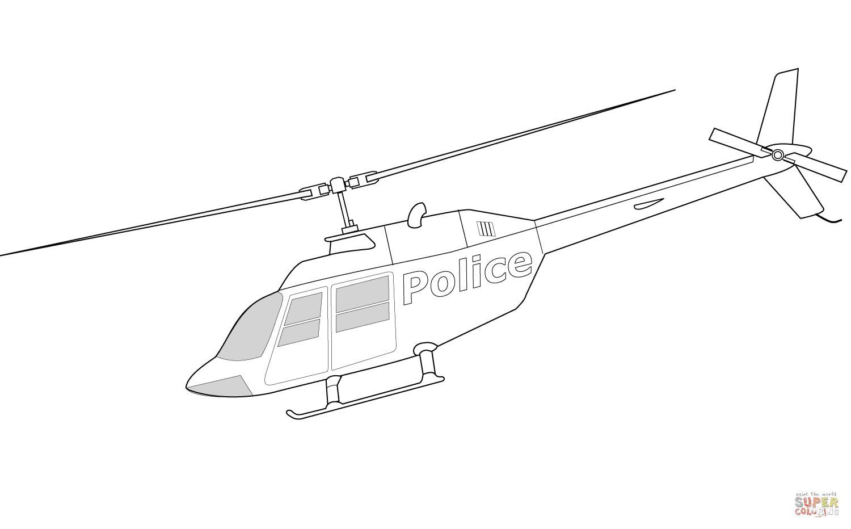 Klick das Bild Bell 206A Polizeihubschrauber