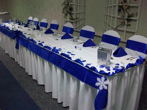 royal blue  white winter wedding marquise ballroom