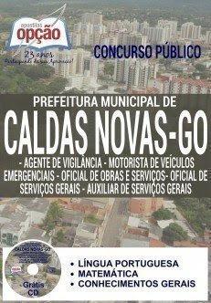 apostila Concurso da Prefeitura de Caldas Novas CARGOS DE NÍVEL FUNDAMENTAL - NÍVEL I