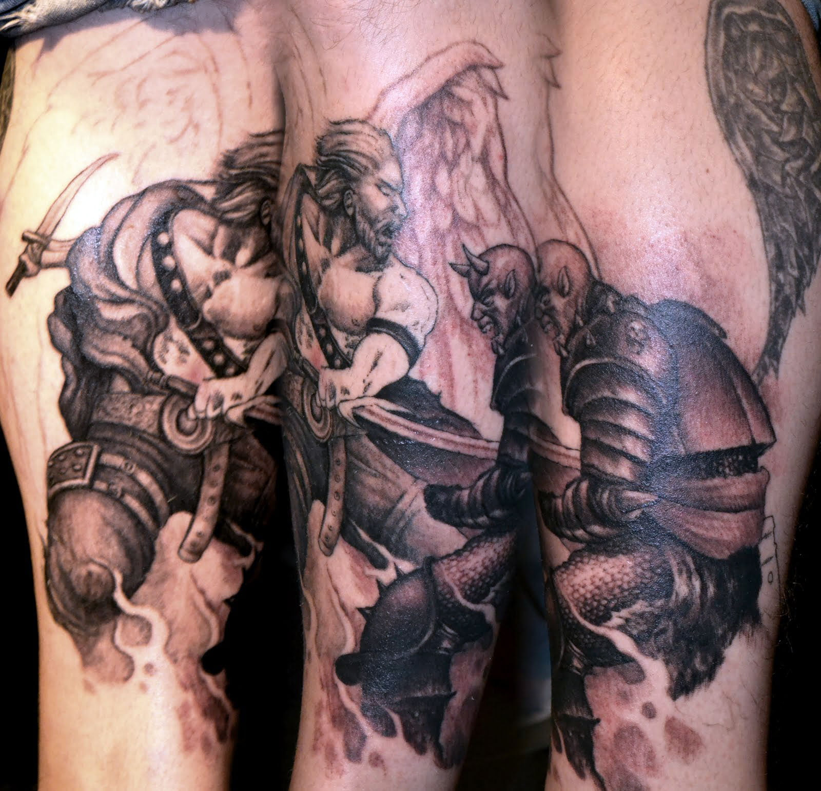 Angels And Demons Tattoos Sleeve Cool Tattoos Bonbaden