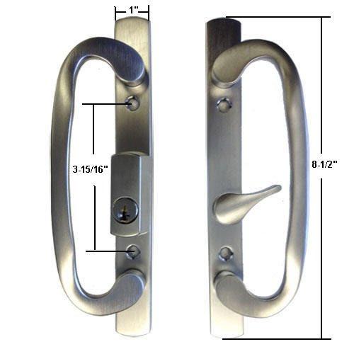 Sliding Glass Patio Door Handle Lock Set Mortise Type B Position Off C Countryside Locks
