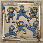 CU VectorStyle Lil Ninjas Series Clipart 5