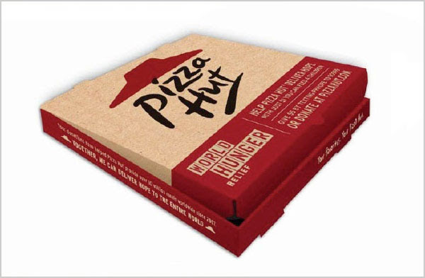 Pizza Hut Pizza box image1 25+ Sour & Spicy Pizza Packaging Design Ideas