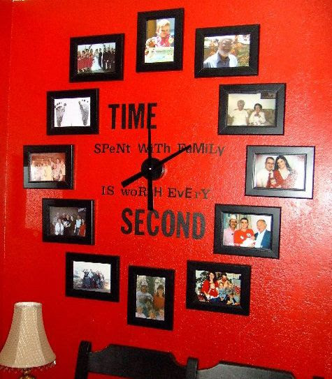 Great ideas for creative Wall clocks! This would be so sweet in a child's room with light walls and white frames! Looks pretty simple to make too!