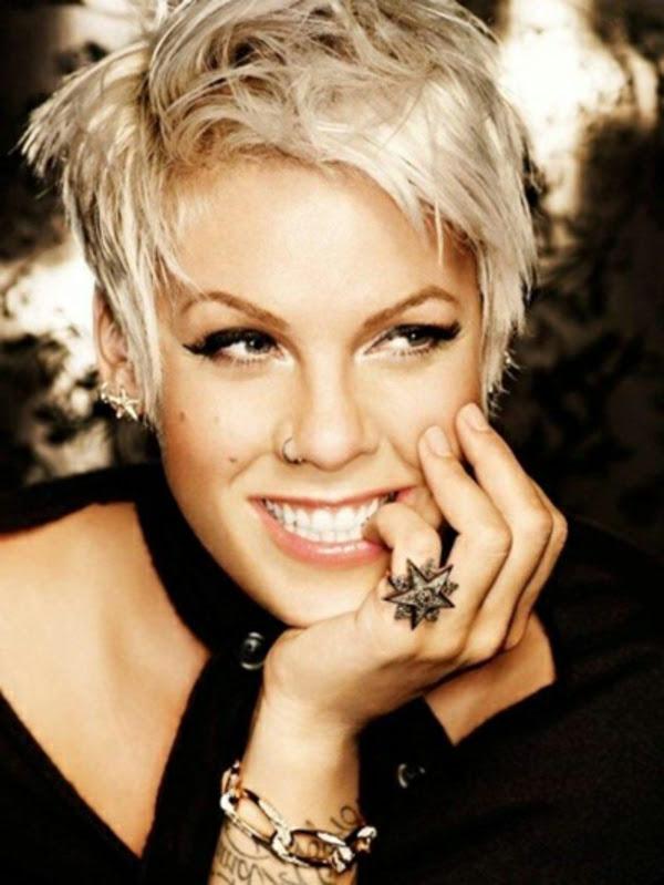 Kurzhaarfrisuren Pink Sängerin Gail Shay Blog