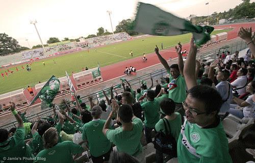 Goooaaalll! Crowd cheer as Phuket score against Hat Yai