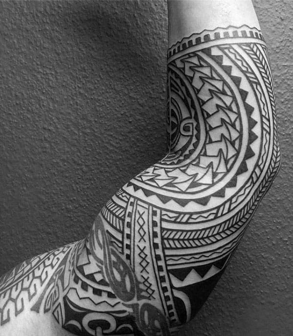 Pictures Of Polynesian Half Sleeve Tattoo Designs For Men Rock Cafe