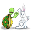 MICHAEL MONOCHELLO - Tortoise and Hare friendship artwork